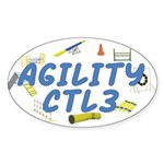 CTL2 Agility Title Oval Sticker
