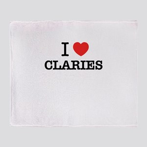I Love CLARIES Throw Blanket