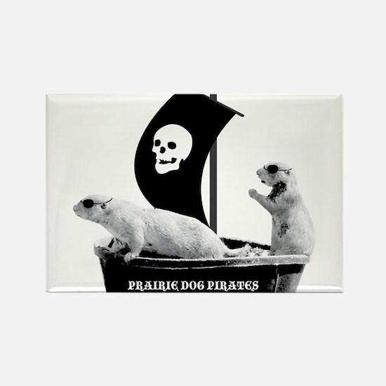 Prairie Dog Pirates Rectangle Magnet (10 pack)