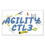 CTL3 Agility Title Rectangle Sticker