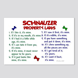 Schnauzer Property Laws 2 Postcards (Package of 8)