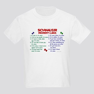 Schnauzer Property Laws 2 Kids Light T-Shirt