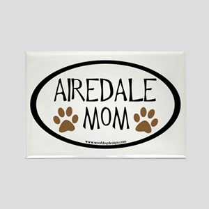 Airedale Mom Oval Rectangle Magnet
