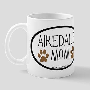 Airedale Mom Oval Mug
