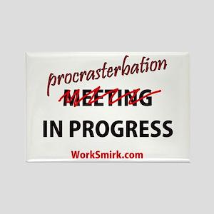 Meeting Procrasterbation 01 Rectangle Magnet