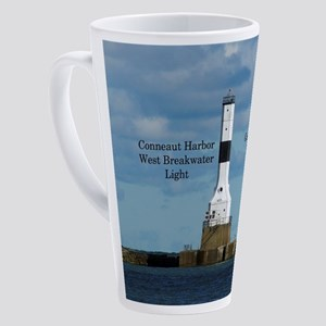 Conneaut Harbor West Breakwater 17 Oz Latte Mug