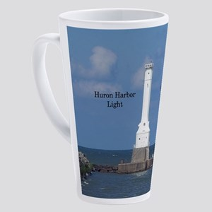 Huron Harbor Light 17 Oz Latte Mug