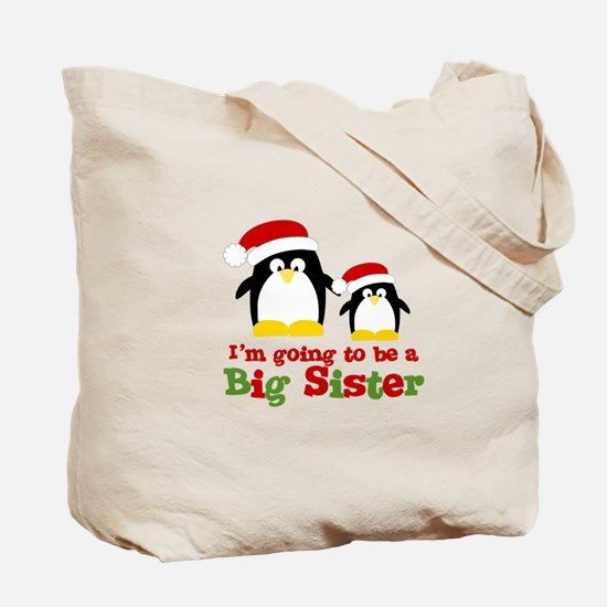 penguin big sister Tote Bag