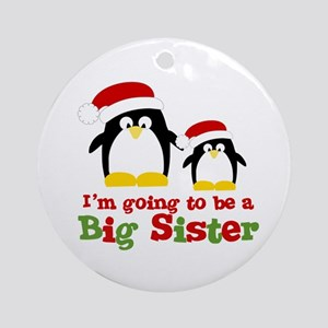 penguin big sister Ornament (Round)