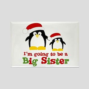 penguin big sister Rectangle Magnet