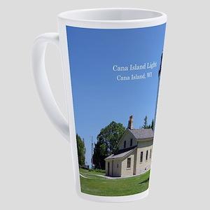 Cana Island Light 17 Oz Latte Mug