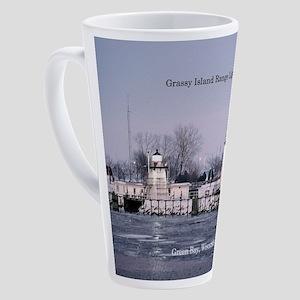 Grassy Island Range Lights 17 Oz Latte Mug
