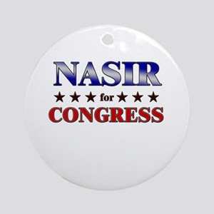 NASIR for congress Ornament (Round)