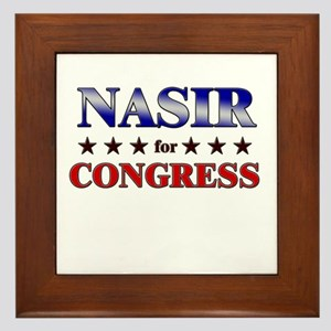 NASIR for congress Framed Tile