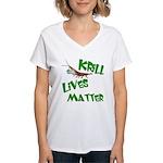 Krill Lives Matter Women's V-Neck T-Shirt