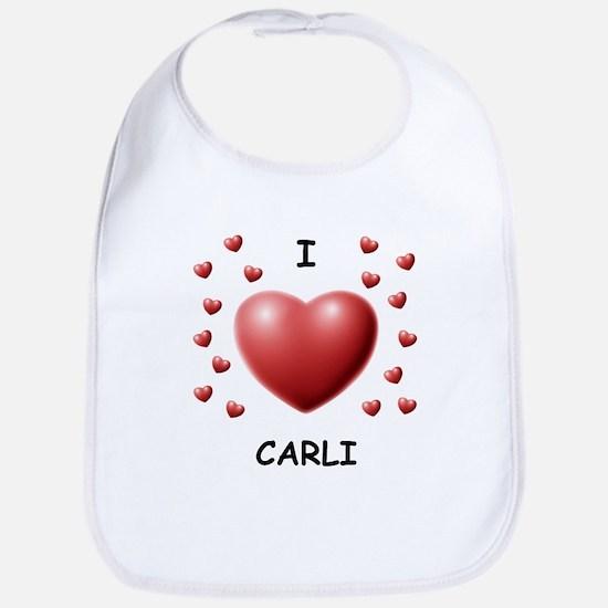 I Love Carli - Bib