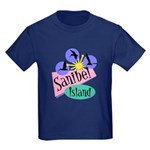Sanibel Retro Pelicans - Kids Dark T-Shirt