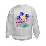 Sanibel Retro Pelicans - Kids Sweatshirt