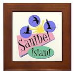 Sanibel Retro Pelicans - Framed Tile