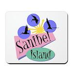 Sanibel Retro Pelicans - Mousepad