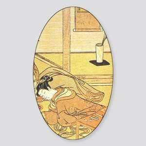 18TH CENTURY GOSETSU HANA-AWA Oval Sticker