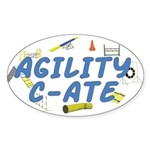 C-ATE Agility Title Oval Sticker
