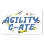 C-ATE Agility Title Rectangle Sticker