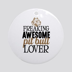 Pit Bull Lover Round Ornament