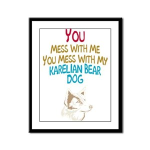 Karelian Bear Dog Framed Panel Print