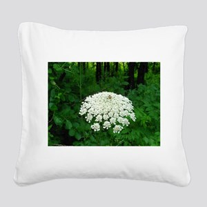 Berkshire White Flower Square Canvas Pillow