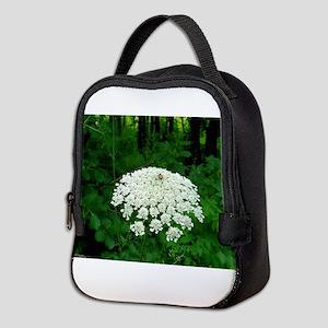 Berkshire White Flower Neoprene Lunch Bag