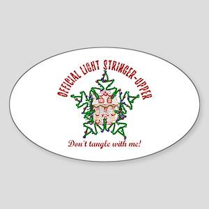 Christmas Light Stringer Upper Oval Sticker