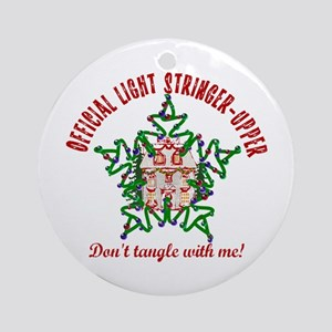 Christmas Light Stringer Upper Ornament (Round)