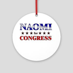 NAOMI for congress Ornament (Round)
