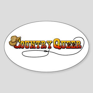 Cowboy Queer Oval Sticker