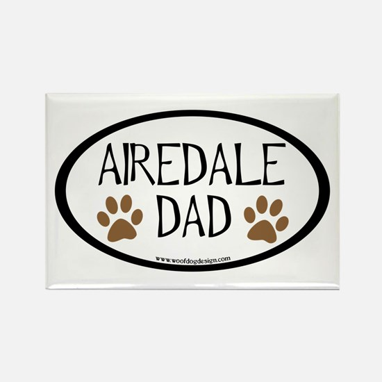 Airedale Dad Oval Rectangle Magnet