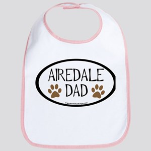 Airedale Dad Oval Bib