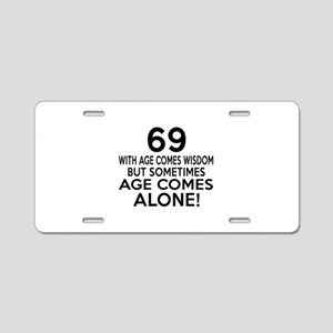 69 Awesome Birthday Designs Aluminum License Plate