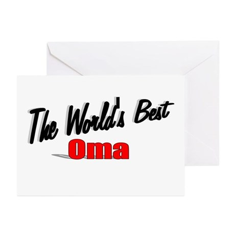 """""""The World's Best Oma"""" Greeting Cards (Pk of 20)"""