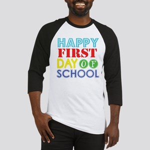 Happy 1st Day of School (Primary Colors) Baseball