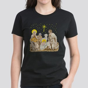 Christmas Nativity Women's Dark T-Shirt