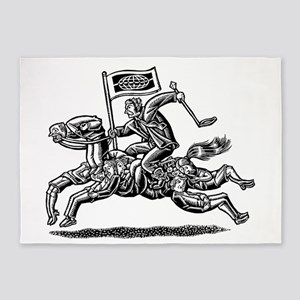 Boss Rides Horse Made of Employees 5'x7'Area Rug
