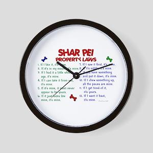 Shar Pei Property Laws 2 Wall Clock