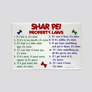 Shar Pei Property Laws 2 Rectangle Magnet
