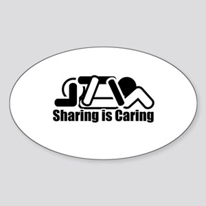 Sharing is Caring Oval Sticker