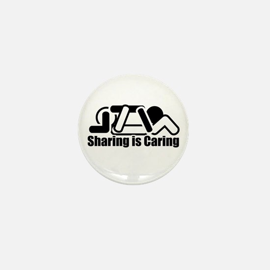 Sharing is Caring Mini Button