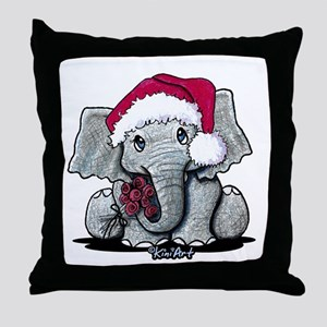 Holiday Elephant Throw Pillow