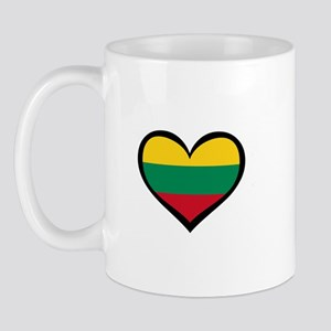 Lithuania Love Heart Mug