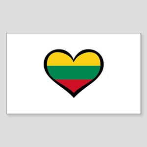 Lithuania Love Heart Rectangle Sticker