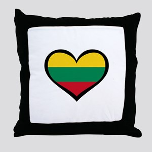 Lithuania Love Heart Throw Pillow